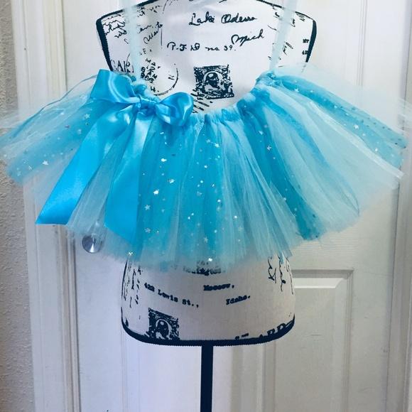 Gymboree Baby Girls Mint Tutu with Silver Waistband